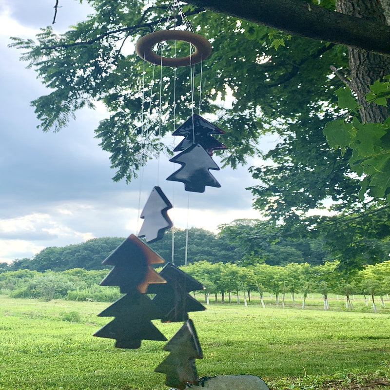 Hand Carved Agate Tree Wind Chime and Suncatcher