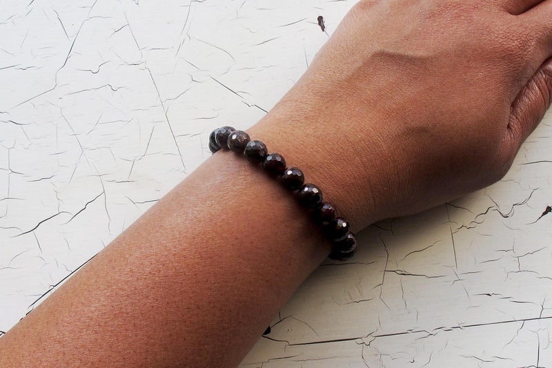 garnet energy bracelet models arm