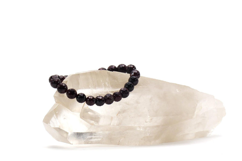 garnet energy bracelet with crystal