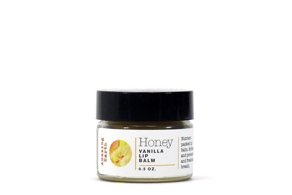 honey vanilla lip balm small jar