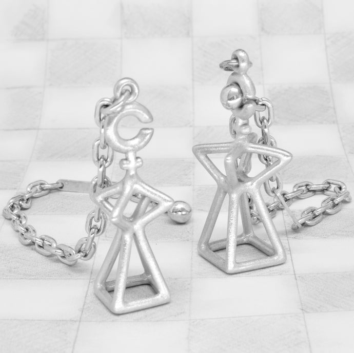 Queen & King keyring