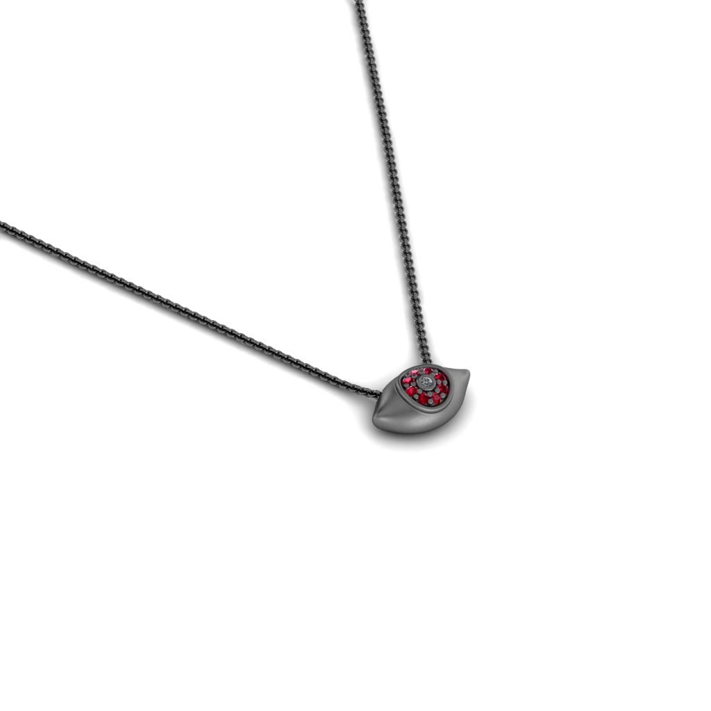 evil eye pendant red