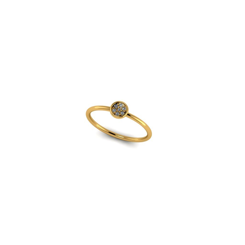 mini gold ring 7