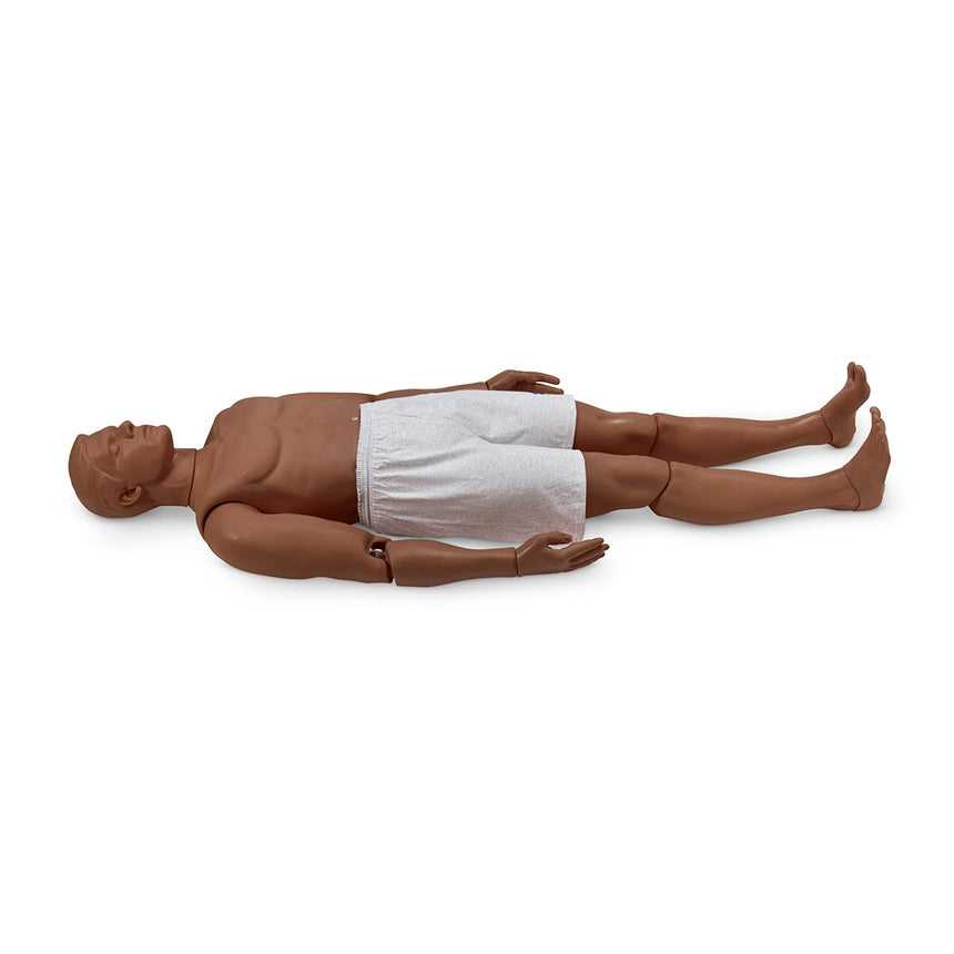 Simulaids,Rescue Randy Combat Challenge 165-lb. Weighted Adult Manikin - 55 in. L x 27 in. W x 13 in. D - Dark