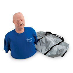 Obese Choking Mankin With Carry Bag