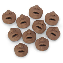 David/Paul  African American Channel Mouth/Nosepieces 10 Pk