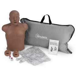 Paul African American CPR Manikin With Carry Bag With Kneeling Pads