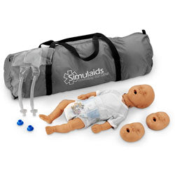 Kim  African-American Newborn CPR Manikin With Carry Bag