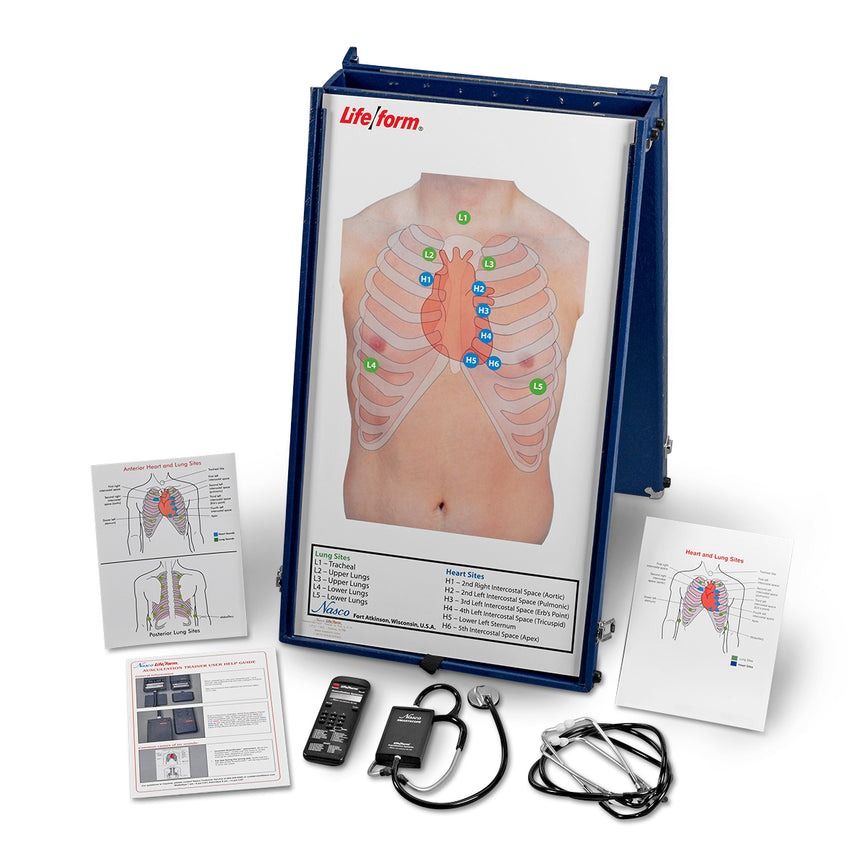 Life/form® Anterior Auscultation Practice Board with Case and SmartScope