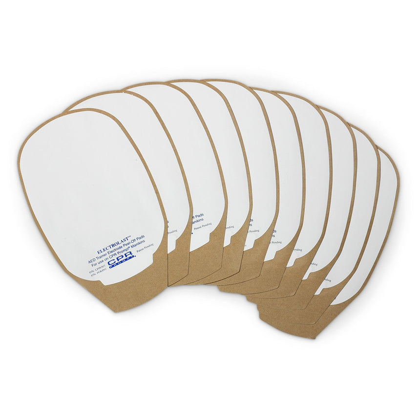 ElectroLast™ AED Trainer Foam Electrode Peel-Off Pads - Medtronic Physio-Control Style