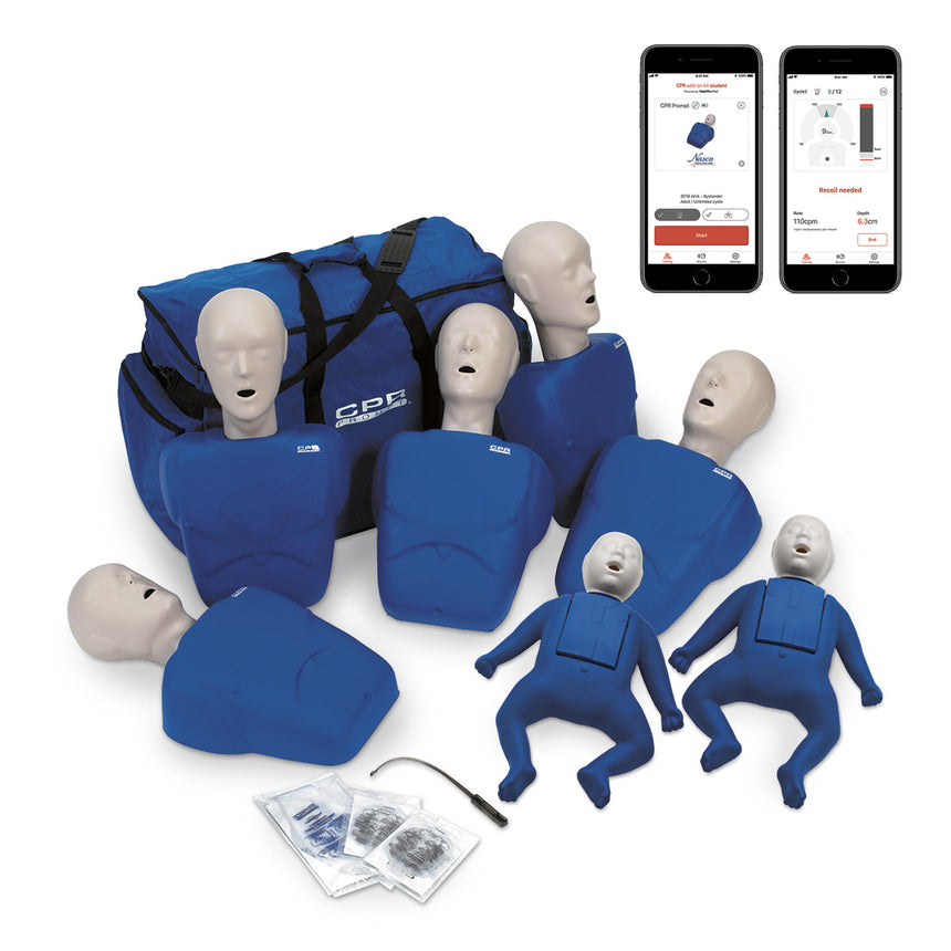 CPR Prompt® Plus Complete TPAK700 7-Pack powered by Heartisense® - Blue