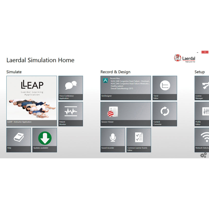 Laerdal® SimPad® PLUS System LLEAP Software
