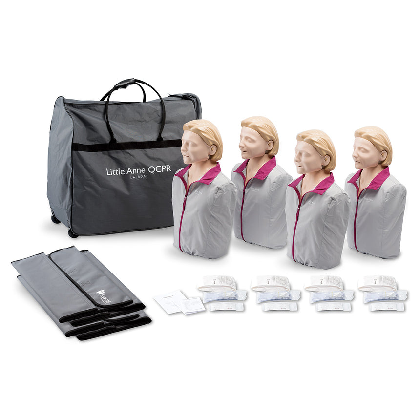 Laerdal® Little Anne® QCPR Manikin 4-Pack - Light
