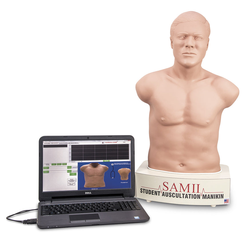 SAM II, the Student Auscultation Manikin - Light Skin