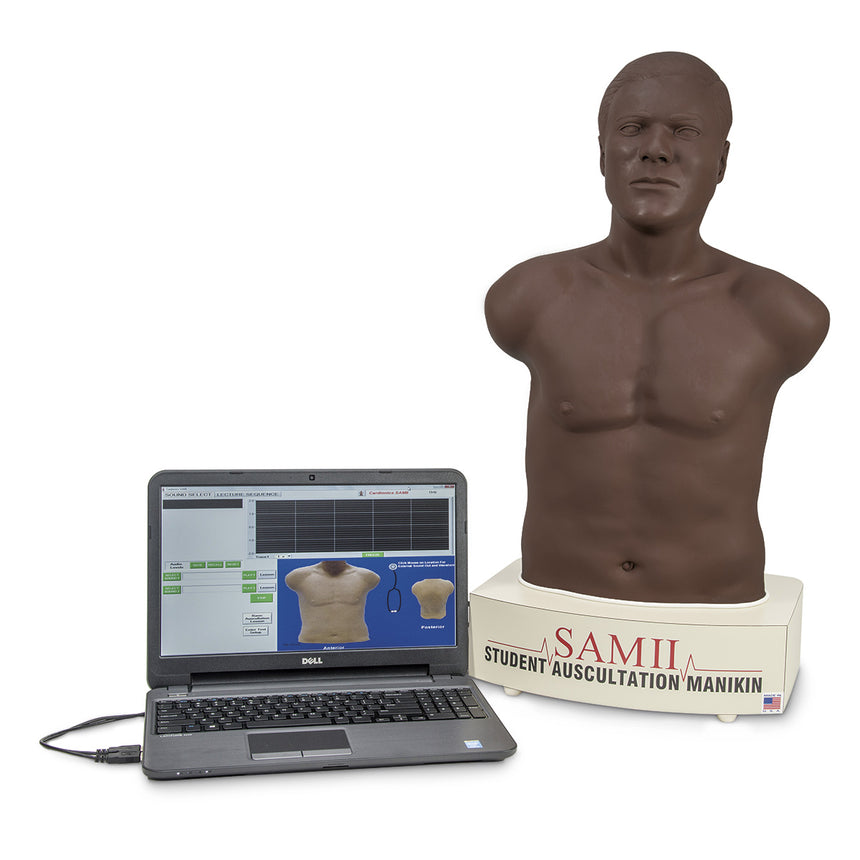 SAM II, the Student Auscultation Manikin - Dark Skin