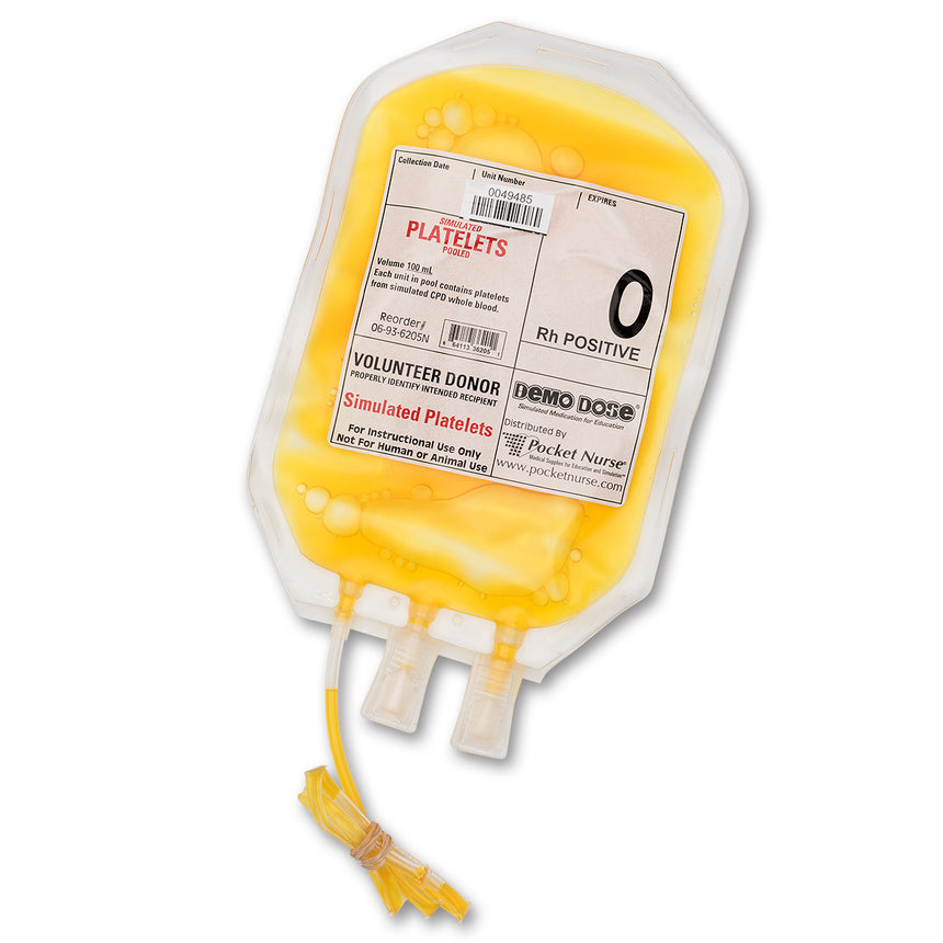 Demo Dose® Simulated Blood Platelets - O Rh Positive