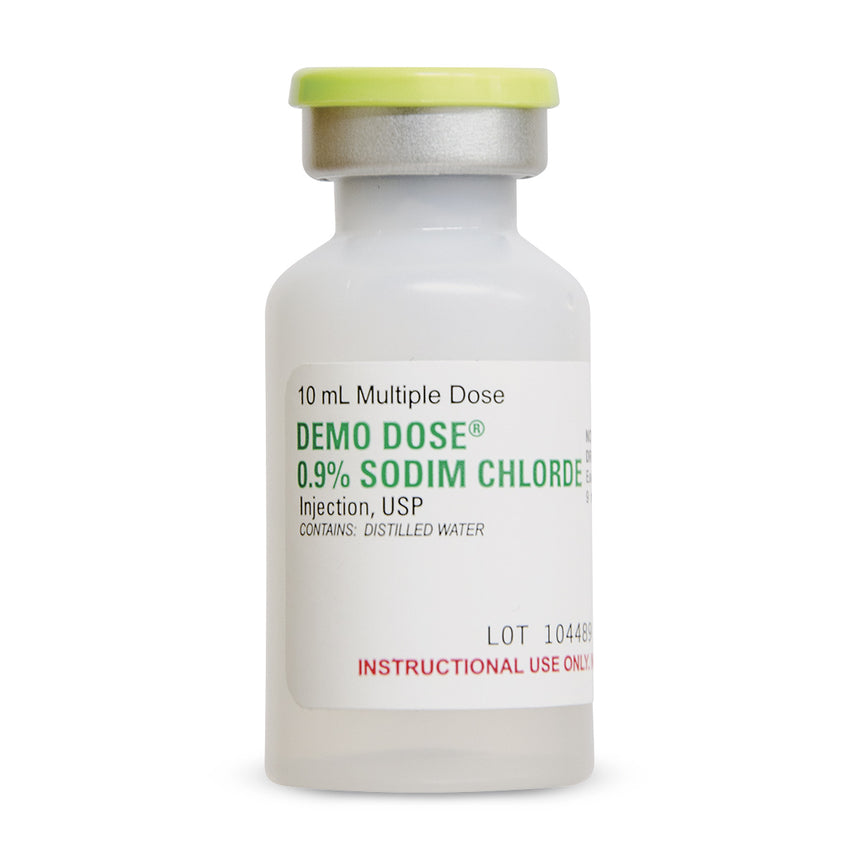 Demo Dose® 0.9% Sodim Chlorde Injection Bacteriostatic - 10 ml
