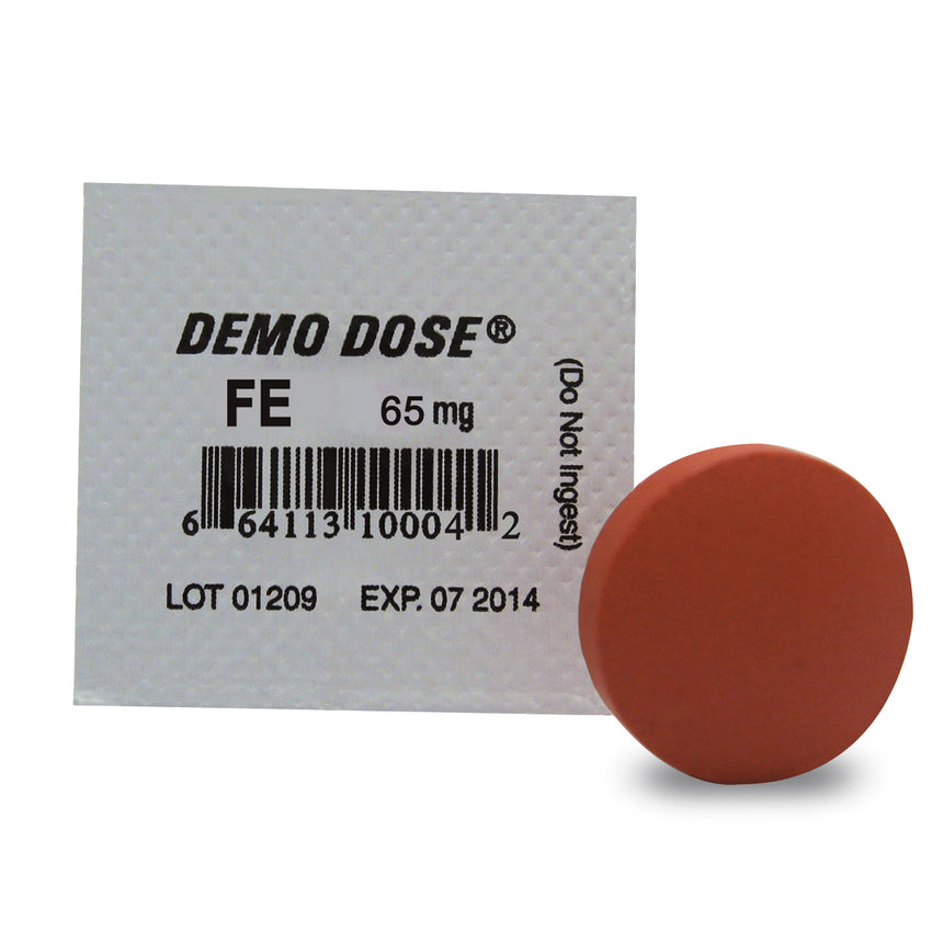 Demo Dose® Oral Medications - Fe - 65 mg