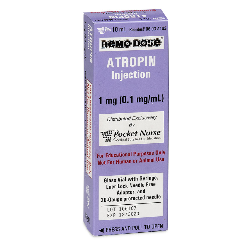 Demo Dose® Simulated Emergency Medication - Atropin - 10 ml