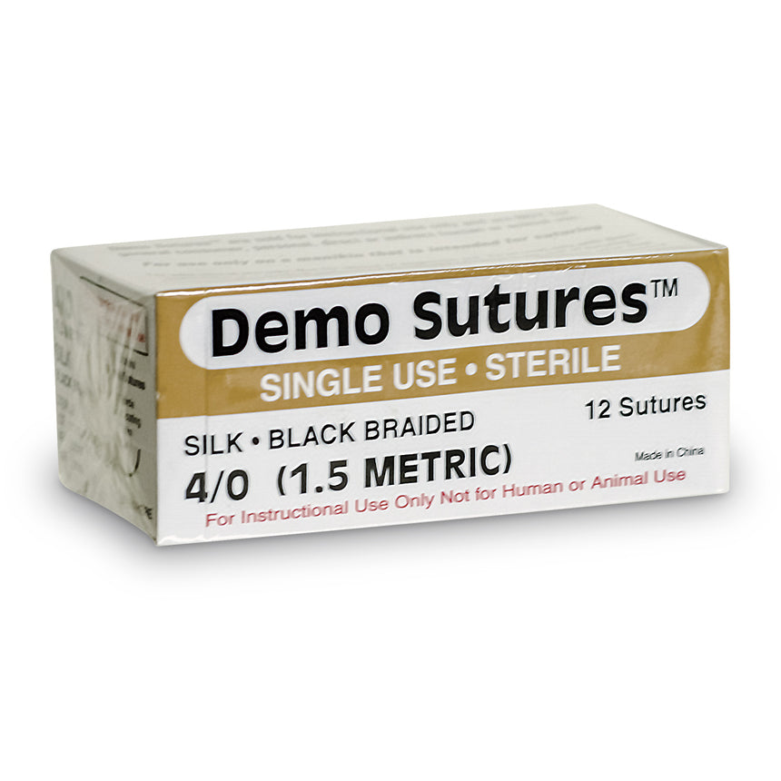 Demo Sutures™ - Size 4/0 with 1/2 Circle Curved Cutting Needle (19 mm)