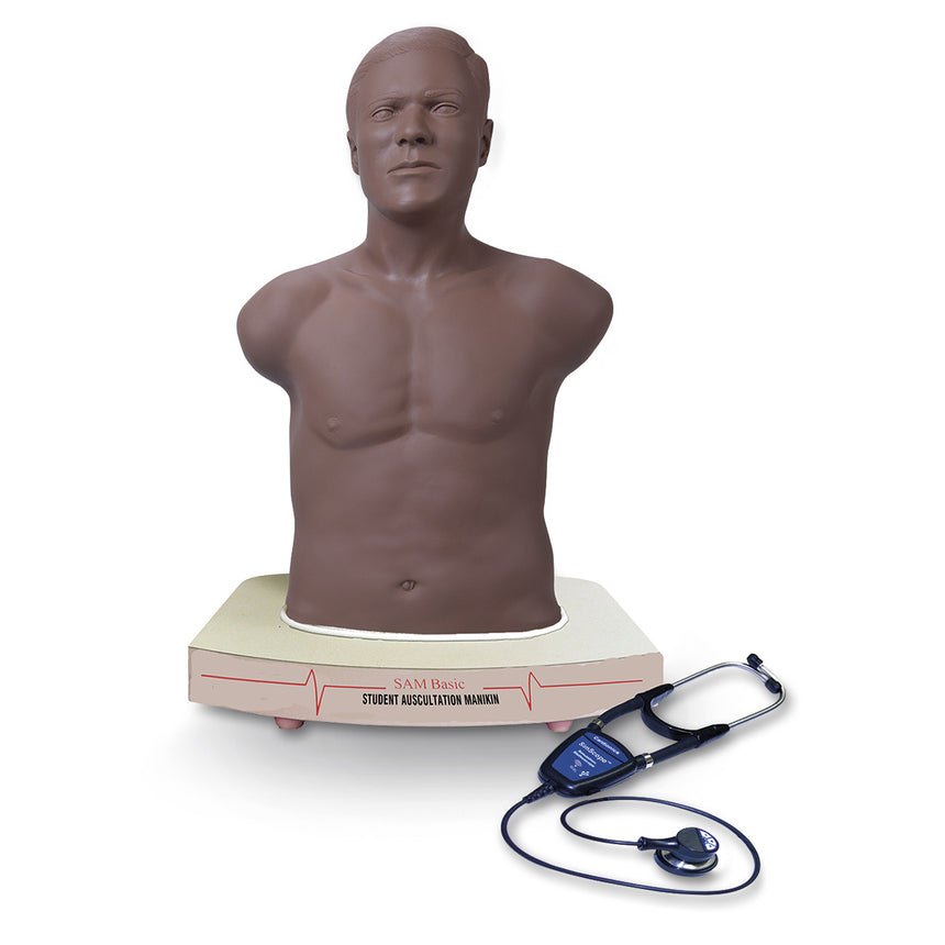SAM BASIC™ Student Auscultation Manikin, Dark Skin