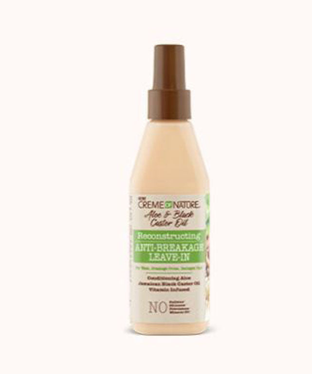 Creme of Nature Aloe & Black Castor Oil Anti Breakage Leave in - 8 oz.
