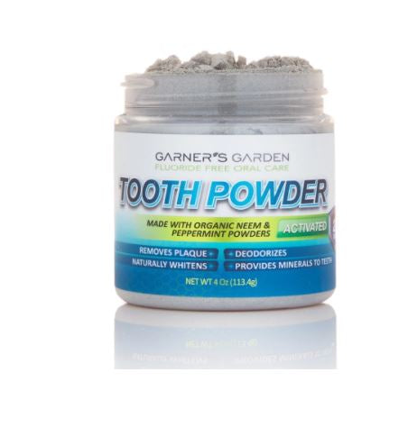 Garners Garden Organic Neem and Peppermint Tooth Powder - 4 oz.