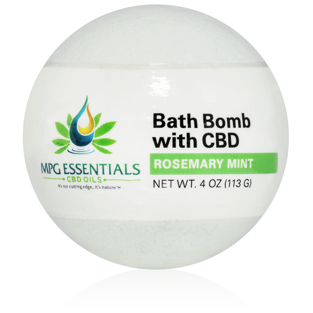 Rosemary Mint CBD Bath Bombs