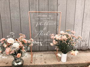 Acrylic Sign with Copper Stand