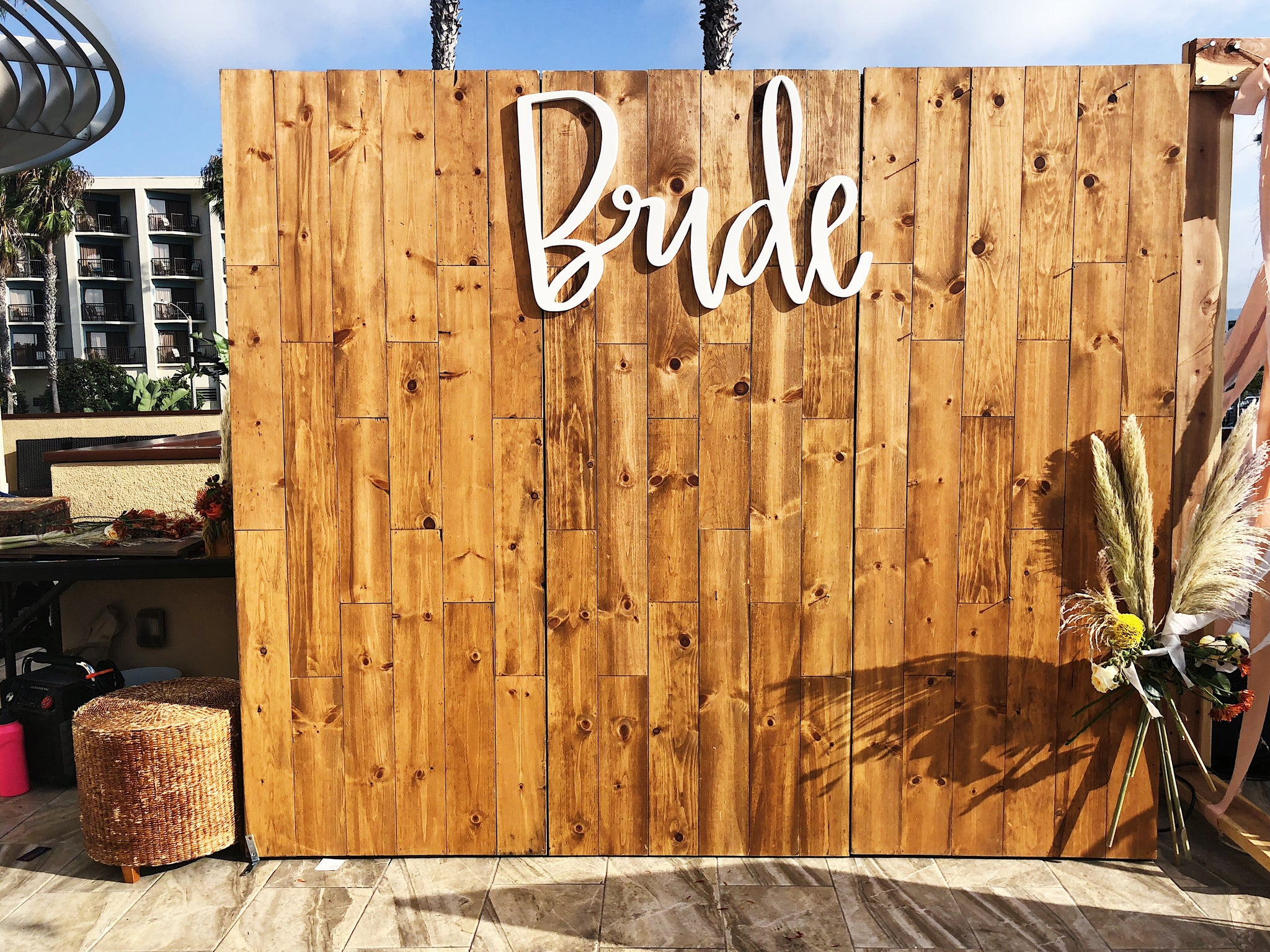 wooden wall rental