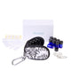 Stylish Essential Oil Key Chain Kit (Black/White Windsor)