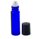 Cobalt Blue Glass Roller Bottles W/ Stainless Steel Balls (12 Pack, 10ml Size)