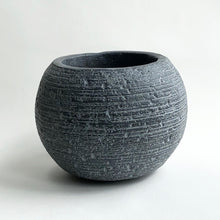 Load image into Gallery viewer, Dark Grey Boule Pot