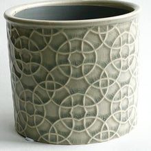 Load image into Gallery viewer, Poppy Stone White Cylinder Pot