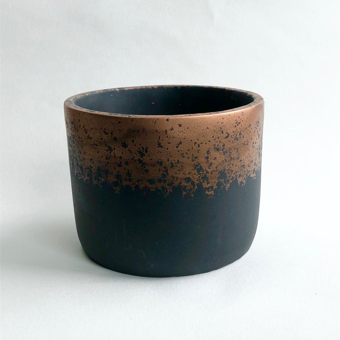 Metallic Fade Copper Cylinder Pot