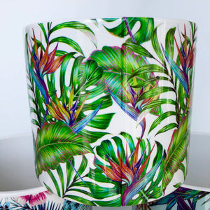 Tropical Print Pot