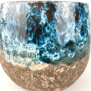 Blue Black Glazed Boule