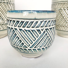 Load image into Gallery viewer, Aztec Plant Pot - Blue