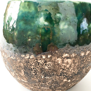 Green Black Glazed Boule