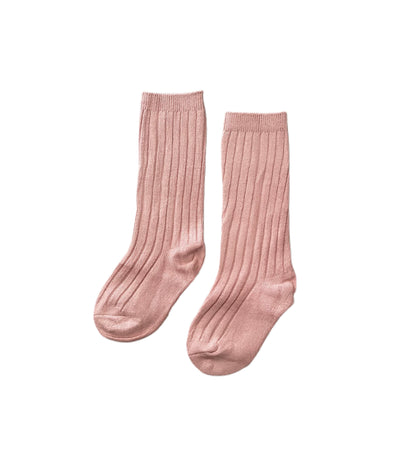 Dusty Rose Knee High Socks - Happily Ella After