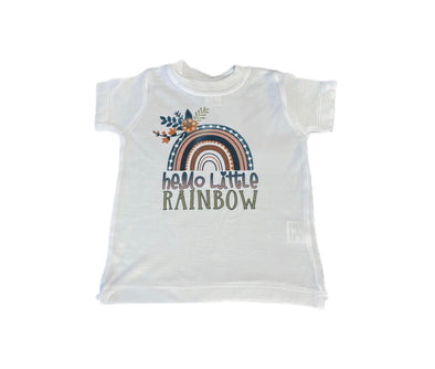 Rainbow Baby Floral T-Shirt - Happily Ella After