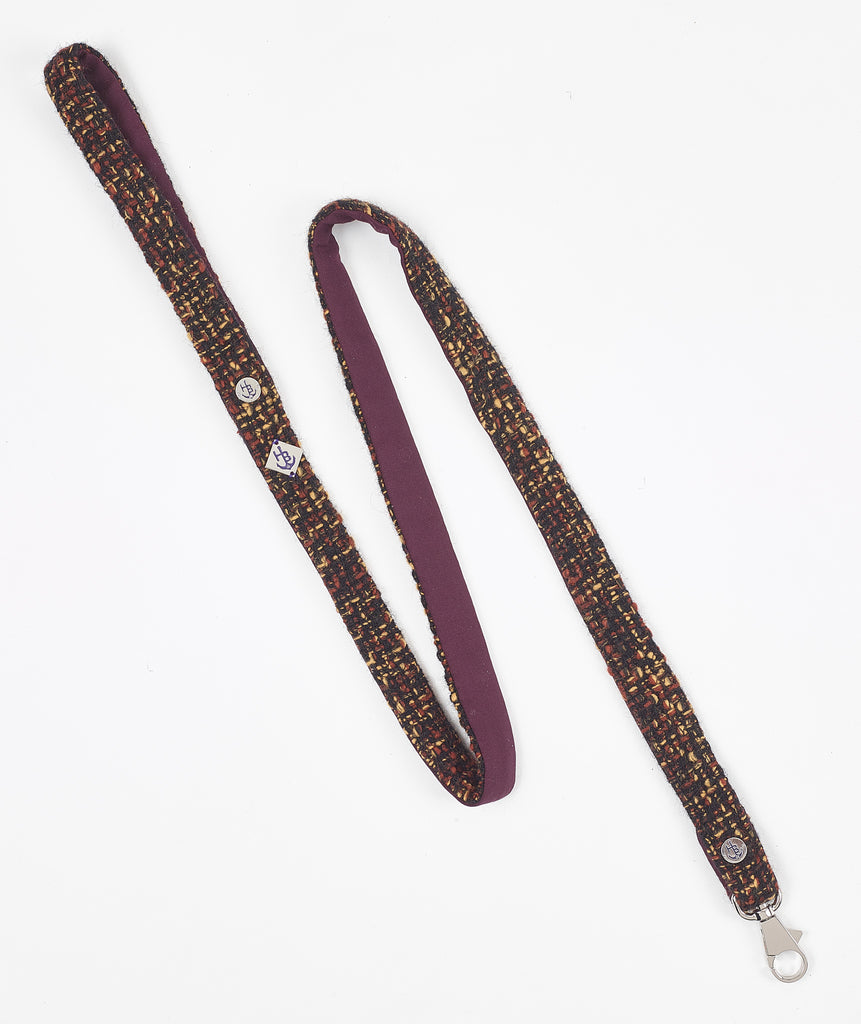 Knightsbridge Collection Boucle Tweed Dog Lead - Hercabella
