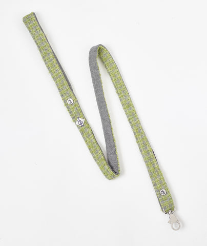 Notting Hill Collection Green Tweed Dog Lead - Hercabella