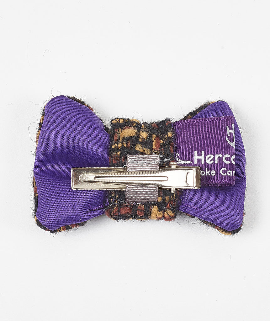 Knightsbridge Tweed Hair Bow - Hercabella