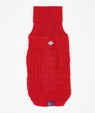 Ferrari Red Luxury Wool Jumper - Hercabella