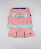 Pink and Aqua Waistcoat Harness with Skirt - Hercabella