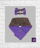 Knightsbridge Tailored Hair Bow and Scarf Set - Hercabella