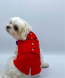 Red Waistcoat Harness with Tail - Hercabella