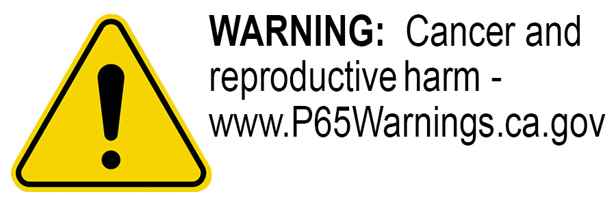 Prop 65 Warning Label