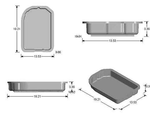 GM 700-R4, 4L60, 4L60E Stock Capacity Transmission Pan